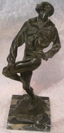 """Gleb W. DERUJINSKY - Escultura - Nijinsky as """"Harlequin""""  in """"Carnival"""""""