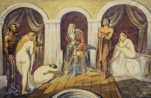 Gustav BAUERNFEIND - Zeichnung Aquarell - Harem