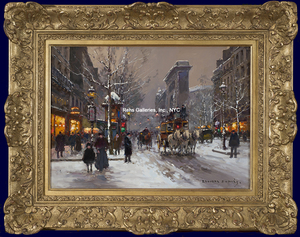 Édouard CORTES, Porte St. Denis, Winter