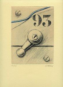 Peter KLASEN - 版画 - GRAVURE COLORÉE MAIN SIGNÉE CRAYON NUM/70 HANDSIGNED ETCHING