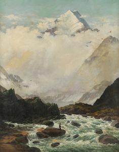 John GIBB - Pintura - Mountain landscape