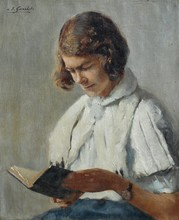 """Louis Édouard GARRIDO - Painting - """"la liseuse"""""""