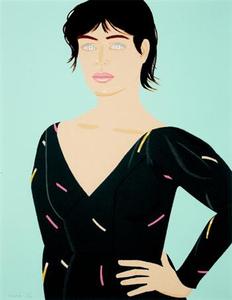 Alex KATZ - Estampe-Multiple - Gray Dress (Laura)