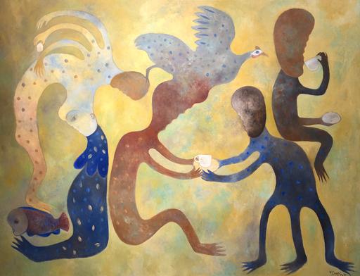 Manuel MENDIVE - Peinture - De la serie 'Porque no me respondes'