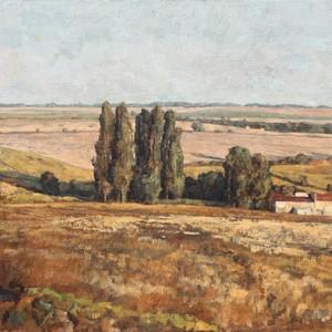 André BOUBOUNELLE - Pintura - Le vallon ensoleillé aux alentours de la belle Indienne,  20