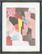 塞尔日•波利雅科夫 - 版画 - Composition rouge, carmin et jaune