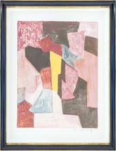 Serge POLIAKOFF - Estampe-Multiple - Composition rouge, carmin et jaune