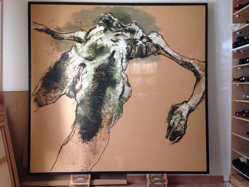 """Lydie ARICKX - Painting - le lit"""""""