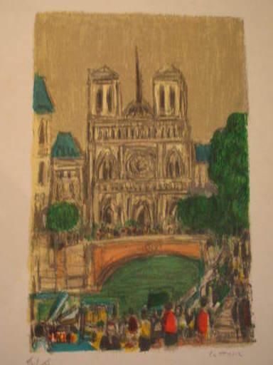 """アンドレ・コタボ - 版画 - """"Mon Paris"""" Album de 6 lithographies signées 1985"""