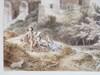 Jean Antoine CONSTANTIN D'AIX - Dibujo Acuarela - Paysage animé