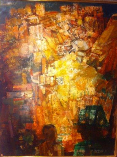 Jacques LEONARD - Peinture - Hommage a Frederico Garcia Lorca