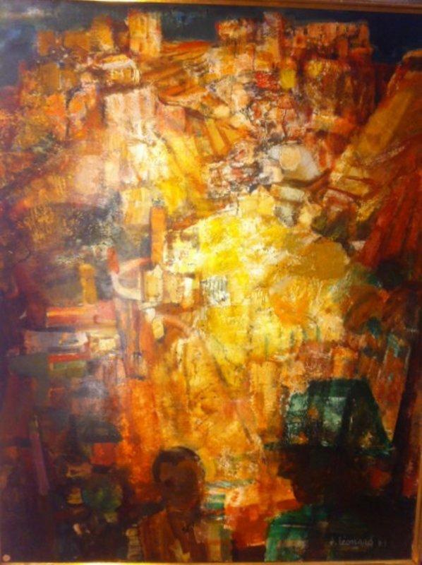 Jacques LEONARD - Gemälde - Hommage a Frederico Garcia Lorca