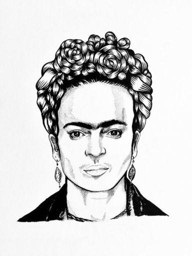 MOG - Disegno Acquarello - Frida Kahlo for hair dresser