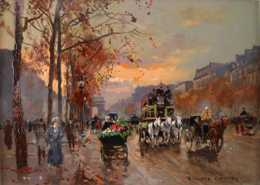 Édouard CORTES - Gemälde - Avenue des Champs-Élysées à Paris