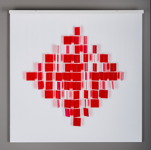 Julio LE PARC - Sculpture-Volume - Mobile Losange Rouge