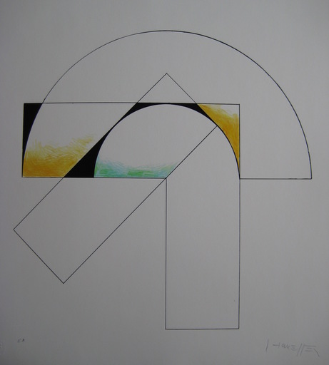 Gottfried HONEGGER - Print-Multiple - SÉRIGRAPHIE NUMÉRIQUE SIGNÉE CRAYON EA HANDSIGNED SILKSCREEN