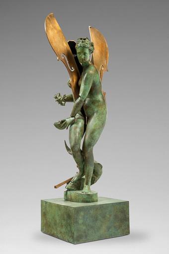 阿尔曼 - 雕塑 - Sliced figure with cello