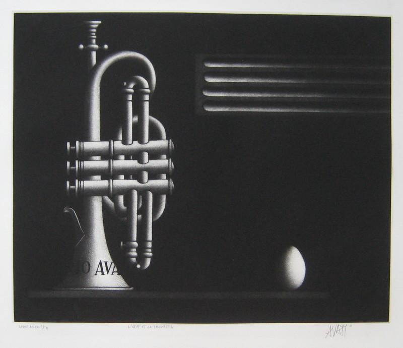 Mario AVATI - Druckgrafik-Multiple - GRAVURE 1966 SIGNÉE AU CRAYON NUM/10 HANDSIGNED ETCHING