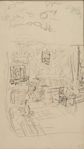 Édouard VUILLARD - Drawing-Watercolor - Intérieur