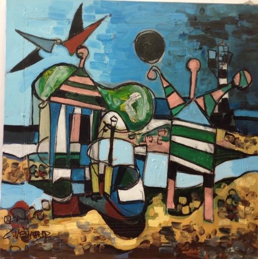 Claude VENARD - Pintura - Les femmes cabines
