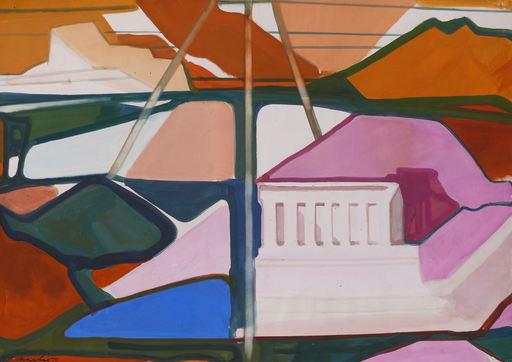 Horst DE MARÉES - Painting - Komposition mit Tempelruine