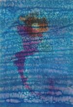 Henri Ernst PFEIFFER - Dibujo Acuarela - Noir-bleu-rouge