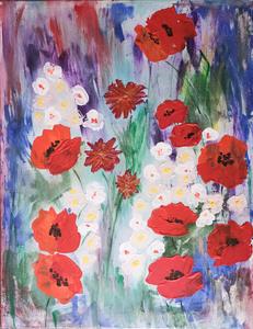 Lillie PIRVELLIE - Painting - Flower Lawn