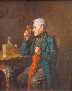 Friedrich FRIEDLÄNDER - Painting - An Experienced Palate
