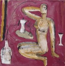 Jorge CABEZAS - Painting - desnudo II