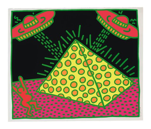 Keith HARING - Estampe-Multiple - Plate II, from Fertility Suite