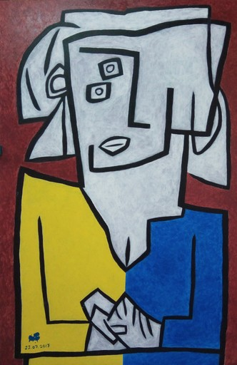 Harry BARTLETT FENNEY - Peinture - yellow blue