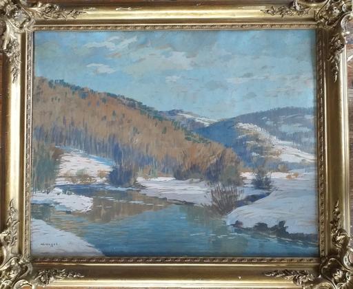 Wilhelm NAGEL - 绘画 - Paesaggio invernale