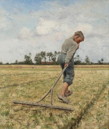 Emile CLAUS - Painting - Le petit moissonneur