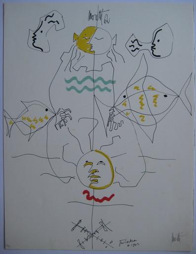 Raymond  MORETTI & Jean  COCTEAU - Print-Multiple - LITHOGRAPHIE SIGNÉE NUM/79 SIGNED NUMB LITHOGRAPH