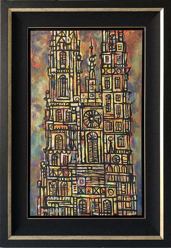 René PORTOCARRERO - Painting - Catedral