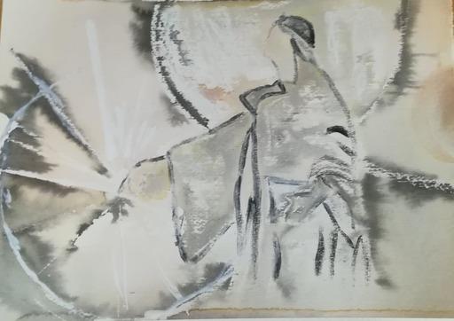Lorena ULPIANI - Drawing-Watercolor - Dialoghi con Cecco d'Ascoli