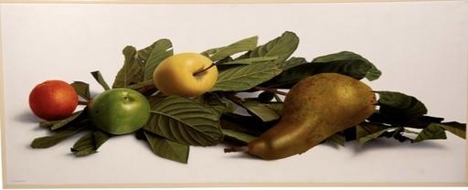 Luciano VENTRONE - Pintura - Natura morta con pere e foglie