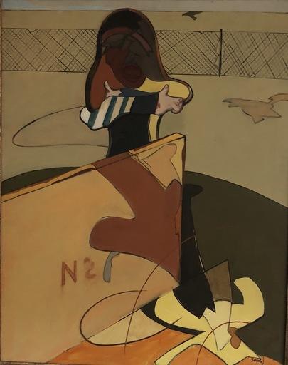 """Juan BARJOLA - Pintura - """"Muchacha en el burladero"""""""