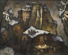 Oskar RABIN - Painting - Christmas in Paris
