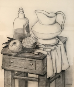 Fernando BOTERO - Drawing-Watercolor - Still Life with Onions