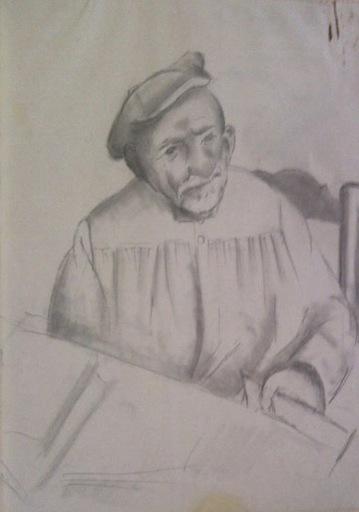 MANOLO - Dibujo Acuarela - retrato señor Pau