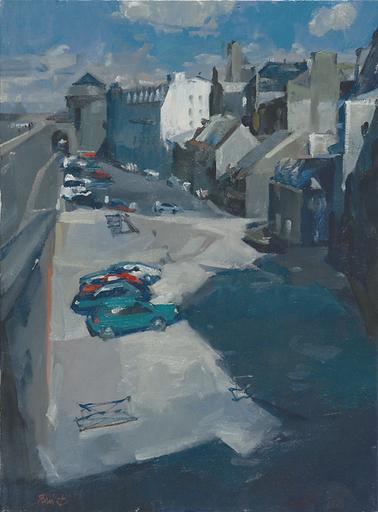 Eric BARI - Painting - Place Vauban à Saint-Malo
