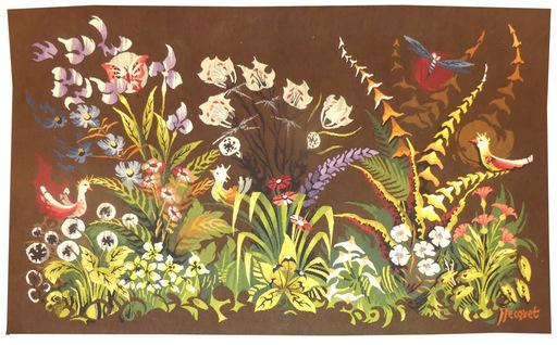Philippe HECQUET - Tapisserie - Fleurs sauvages