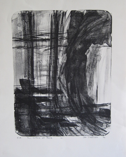 Jan SIVERTSEN - Stampa-Multiplo - LITHOGRAPHIE SIGNÉE CRAYON EA HANDSIGNED LITHOGRAPH