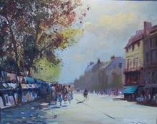 Roy PETLEY - Painting - Les Bouquinistes La Galerie