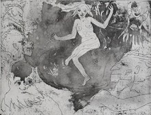 Emil NOLDE - Grabado - Death as a Dancer | Der Tod als Tänzerin