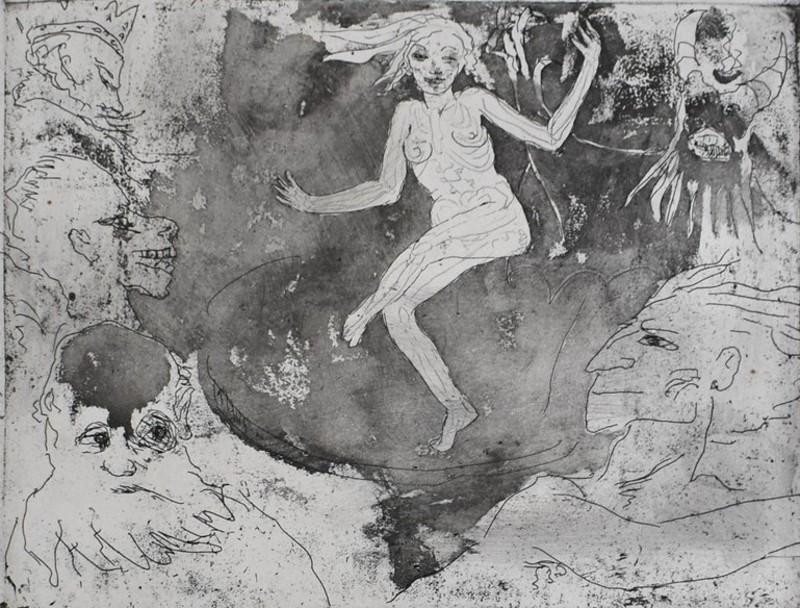 Emil NOLDE - Print-Multiple - Death as a Dancer | Der Tod als Tänzerin