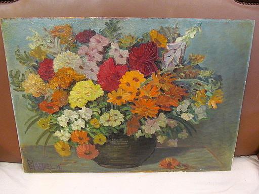Emil MAETZEL - Gemälde - Sommerlicher Blumenstrauß