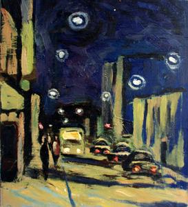 Valeriy NESTEROV - Painting - Taganskaya street. Moscow
