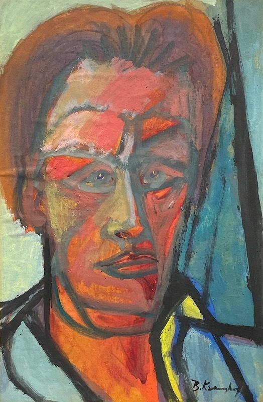 Bruno KRAUSKOPF - Painting - Self Portrait